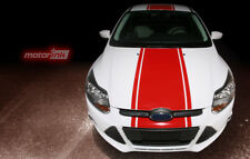 2011-2014 Ford Focus Hatchback Rally Racing Center Over the Top Stripes Decals