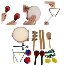 16Pcs/Lot Musical Instruments Set Tambourine Drum Percussion Toys for Children