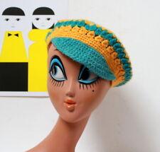 Casquette béret laine crochetée vintage