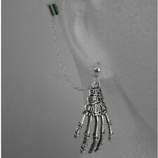Mano di scheletro-Ear Cuff Piercing Clip Catena Dangle * fatta in UK * - * GRATIS *