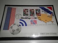 """STATI UNITI 1994 MONDIALI DI CALCIO WORLD CUP 94"""" BUSTA I° GIORNO FDC (CAT.5A)"""