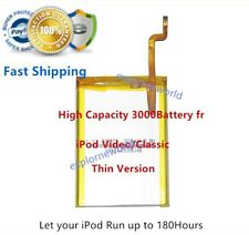 3000mAh Upgraded SSD Battery for iPod Video 30GB 6 7th Gen Classic 80 120 160GB