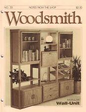 Woodsmith 1984 No 33 Modular Wall Unit