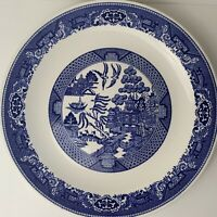 "Vintage Blue Willow Cake Plate Ware by Royal Sebring Ohio China 12"" Plate Dish"