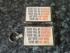 No Limits Keyring and Magnet Set. NEW. Motivational Quote / Inspiration. Goals