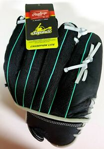 """Rawlings Champion Lite 11.5"""" Softball RIGHT HAND Glove Leather Palm *L H Thrower"""