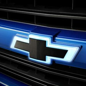 2016-2019 Silverado GM Illuminated Front Grille Black Bowtie Emblems 84129741