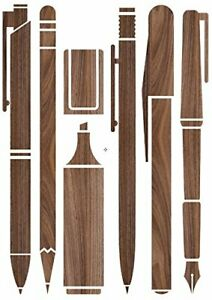 """Decosense Adhesive Wall Transfers Wooden Pen Collection 25""""x 35"""" 16201"""