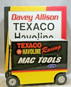 NASCAR Diecast Davey Allison Havoline Pit Wagon Bank 1:16 Scale