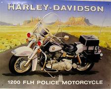 Harley-Davidson 1200 Police Motorcycle Metal Sign