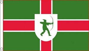 NOTTINGHAMSHIRE FLAG 5' x 3' Notts Nottingham County