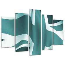 Five Piece Teal Canvas Art Pictures Set Wall Prints Blue Green 5010
