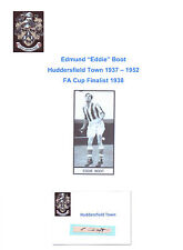 EDDIE BOOT HUDDERSFIELD TOWN 1937-1952 MGR 1960-64 RARE ORIG HAND SIGNED CUTTING