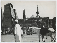 Egypte, Luxor (الأقصر), Le Temple  Vintage silver print Tirage argentique  1