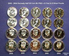 2002 2000 2003 /& 2004 Lincoln Cent PDS Set w10 Mint Set PD BU 5 Proofs 2001