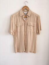 Vintage Western Soft Beige Camel Shirt Blouse Top Size 8 6 £40, Sold Out