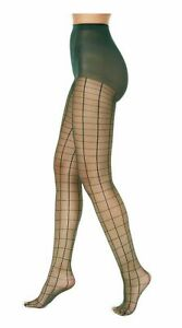 Tights Women's INC International Concepts Color Green Windowpane Size XS/S