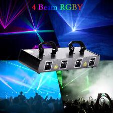 4 Lens & Beam RGYP Bühnenbeleuchtung 460mW Lasereffektlicht DMX Disco Party Show