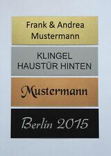 Alu, Metall Klingelschild,Briefkastenschild,Türschild,Namensschild