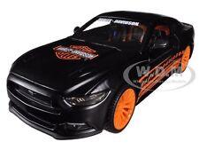 2015 FORD MUSTANG HARLEY DAVIDSON BLACK 1:24 DIECAST MODEL CAR BY MAISTO 32188