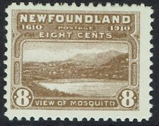 NEWFOUNDLAND 1910 PICTORIAL 8C VIEW OF MOSQUITO LITHOGRAPHED PERF 12
