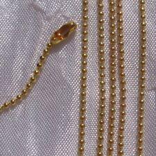 kit 1m chaine bille boule 1,5mm+10 connecteur metal dore colliers perles*OU2