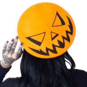 Kreepsville 666 Trick or Treat Citrouille Halloween Effrayant Hat Béret Hbbttpo
