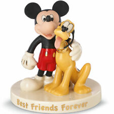 Lenox Disney Mickey And Pluto Mouse's Best Friend Figurine - New In Box