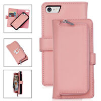 Magnetic PU Leather Wallet Cash Card Slot Case For Apple iPhone 6 6s 7 8 Plus