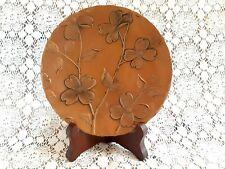 Handmade Handforged Wendell August Solid Bronze Plate Dogwood tree flower