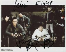 RAMMSTEIN BAND GROUP SIGNED PHOTO 8X10 RP AUTOGRAPHED ALL MEMBERS !