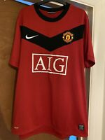Nike Manchester United | Man Utd | Football Shirt Jersey AIG 2009-2010 | Size L