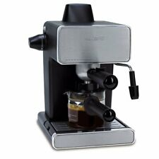 Mr. Coffee 4-Cup Steam Espresso and Cappuccino Maker Stainless Steel / Black