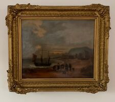 E W Cooke - Seascape Oil on Board