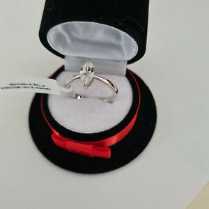 Stunning Diamond Solitaire Ring In Sterling Silver