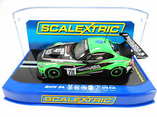 "Scalextric ""Team Russia"" BMW Z4 GT3 DPR W/ Lights 1/32 Slot Car C3624"