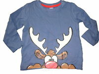 NEU Dopodopo süßes Langarm Shirt Gr. 80 blau mit Hirsch Motiv !!