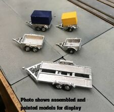 N scale kit 5x mixed trailers 3D Printed