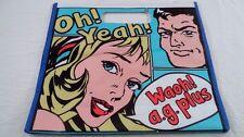 Oh Yeah Roy Lichtenstein Pop Art Girl Boy Large Shopping Grocery Tote Bag Purse