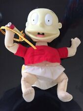Vintage 1999 Mattel Viacom Rugrats Tommy Vinilo Muñeca que habla cabeza