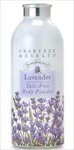 Crabtree Evelyn Classic LAVENDER Talc Free Powder 75ml NEW & SEALED