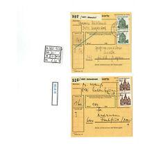 (B9136) Bund Nr. 460 - 461 Mehrfachfranaktur auf Paketkarten Kat. 30.--€