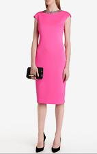 TED BAKER Pink Elenna Jewel Embellished Neck Bodycon Evening Dress *NWT* - UK 6