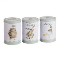 Wrendale Designs Sage Tea, Coffee & Sugar Canisters - Wedding / Engagement Gift