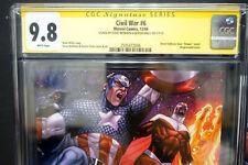 Marvel CIVIL WAR # 6 (2006) CGC Graded 9.8 SIGNED Captain America / The Falcon