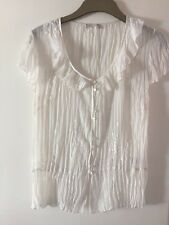 Ladies Size 12 Lovely Lacy Blouse By Soon In Cream Coloured Material