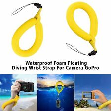 1 Yellow Floating Foam Wrist Strap for Waterproof Camera Go Pro Marine Binocular