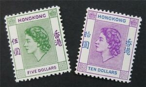 nystamps British Hong Kong Stamp # 197.198 Mint OG H $76   S24x2514
