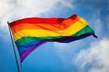 GIANT RAINBOW GAY LESBIAN PRIDE LGBT FLAG FESTIVAL CARNIVAL SUPPORT 5FT X 3FT
