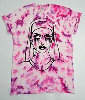 Nun Tie Dye T Shirt UNISEX Festival Grunge Metal Emo Hipster Summer Meme Trippy